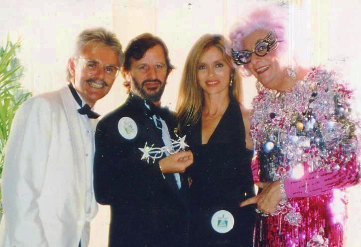 Andy Cade, Ringo Starr, Barbara Bach, Dame Edna Everage