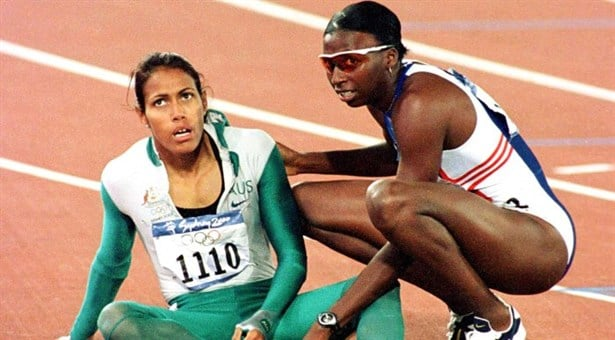 Donna Fraser with Cathy Freeman hero image