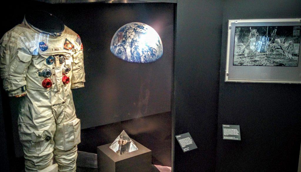 Moon rock & Anders Space suit