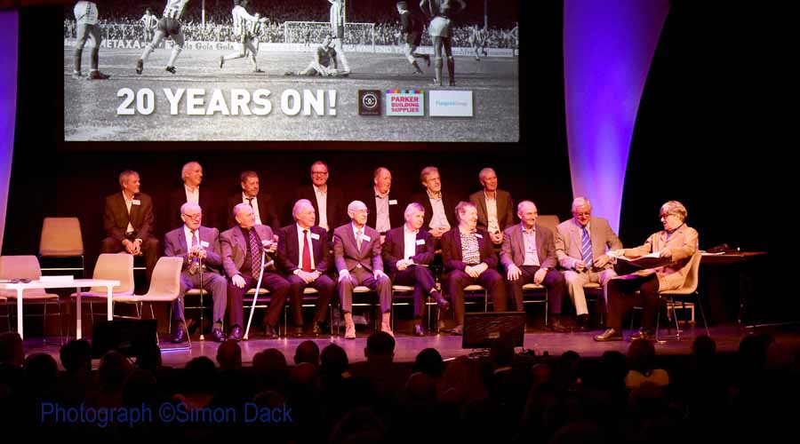 Past Players on stage