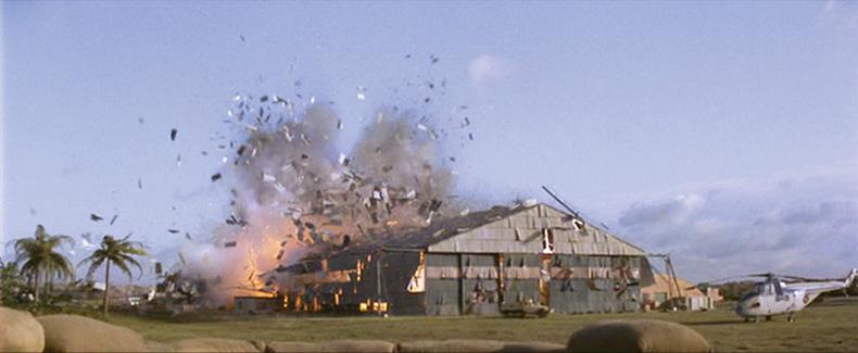 Hangar explodes