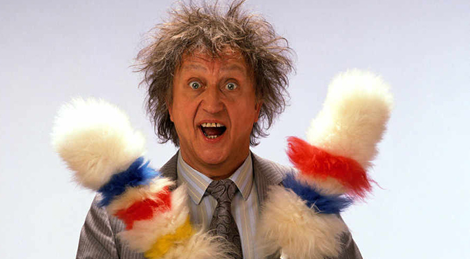 Ken Dodd tickling sticks