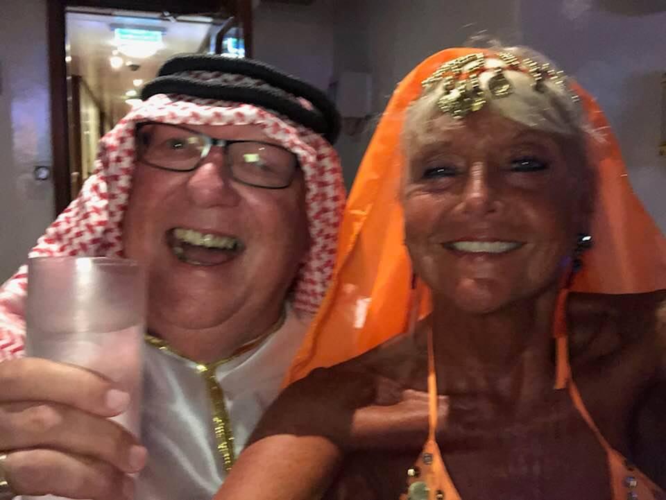 Bob 'The Cat' Bevan & Wife fancy dress party