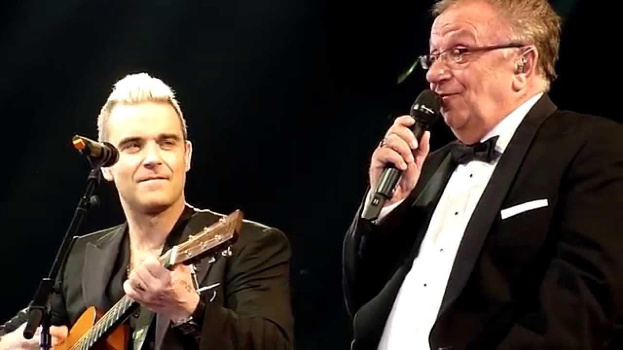 Robbie & Dad singing