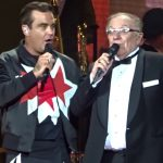 Robbie & Dad on stage