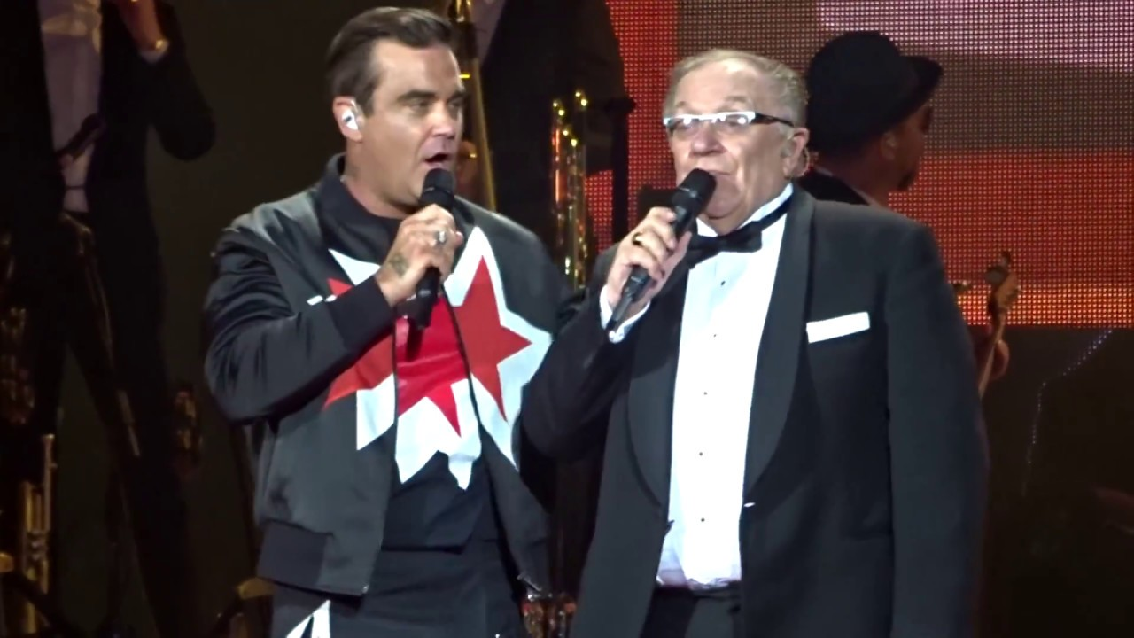 Robbie & Dad (Pete Conway) on stage