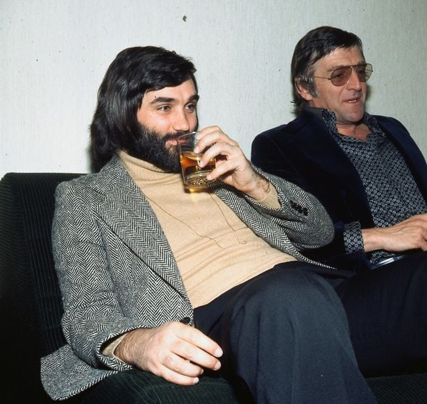 Enjoying a drink in 1975
